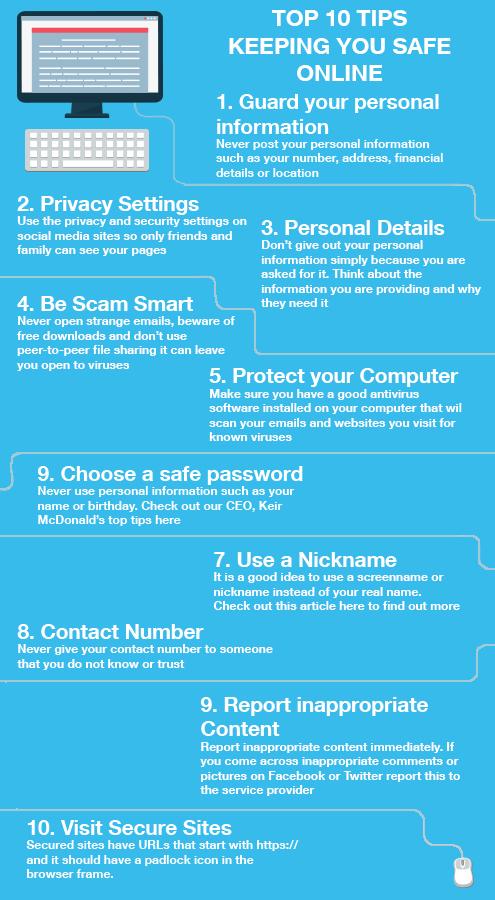 Top 10 Tips Keeping You Safe Online