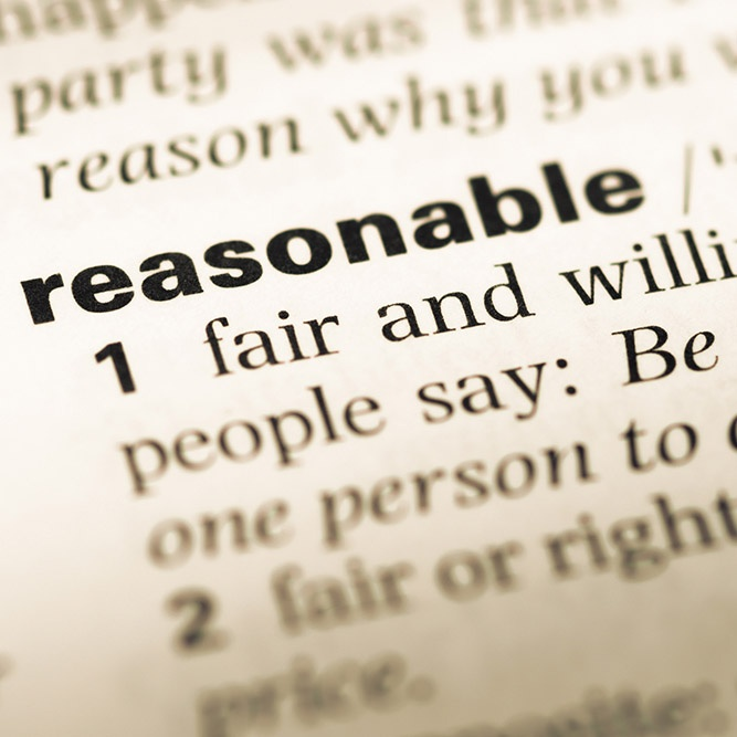 reasonable force understand what is and is not acceptable