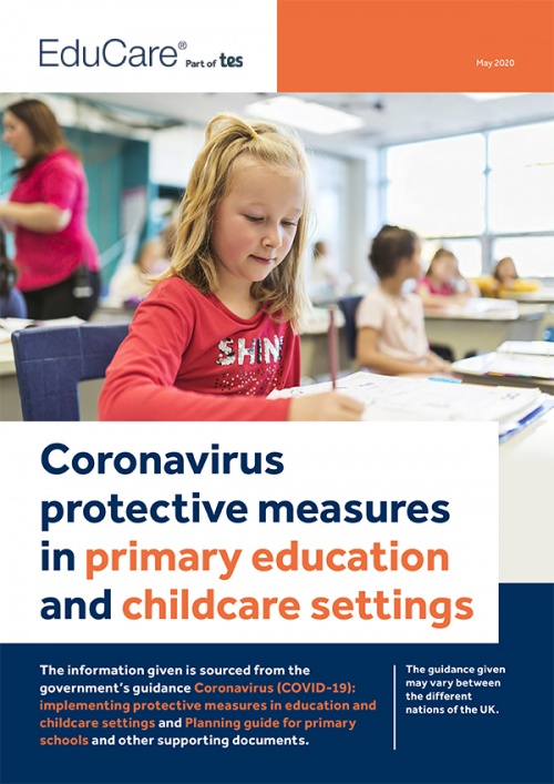 Coronavirus: Protective measures in primary education and childcare settings