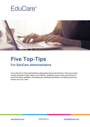 Five Top-Tips for Administrators