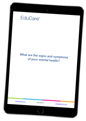 What are the signs and symptoms of poor mental health?